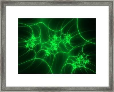 Neon Fantasy Framed Print