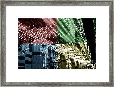 Neon Fusion Framed Print by John Rizzuto