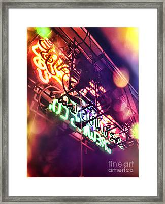 Neon Framed Print by HD Connelly