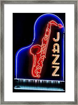 Neon Jazz Framed Print