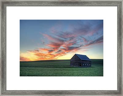 Neon June Sunset Framed Print