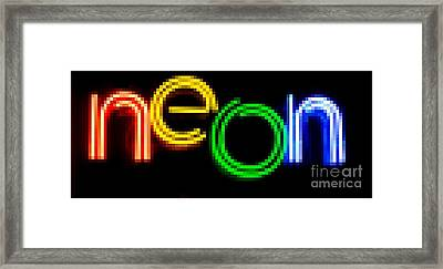 Neon Framed Print