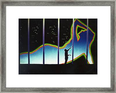 Neon Life Framed Print by Dan Townsend