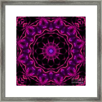 Neon Magic Framed Print