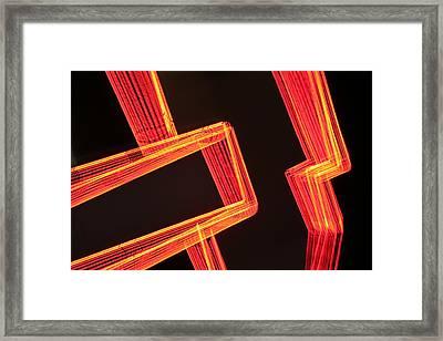 Neon Maze Framed Print