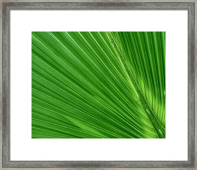Neon Palm Reader Framed Print
