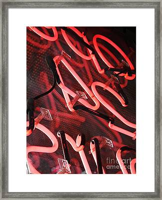 Neon Red Framed Print
