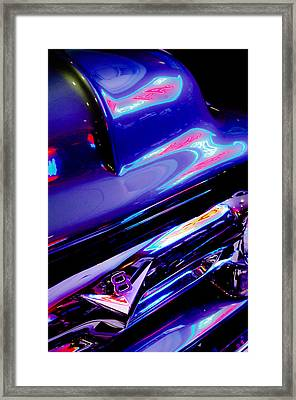 Neon Reflections - Ford V8 Pickup Truck -1044c Framed Print by Jill Reger