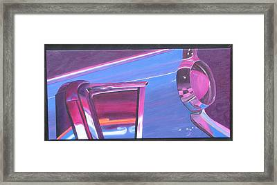 Neon Reflections IIi Framed Print by Karin Thue