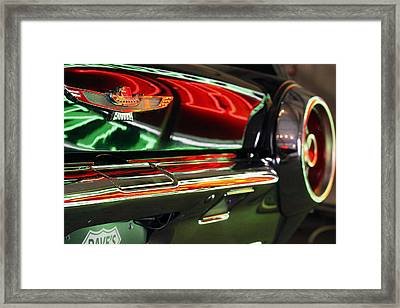 Neon Reflections Framed Print