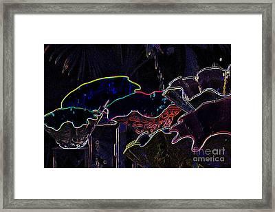 Neon Shells Framed Print