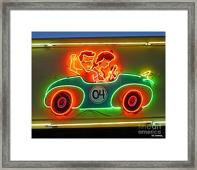 Neon Sign Kennywood Park Framed Print by Jim Zahniser