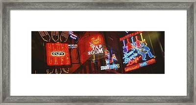 Neon Signs, Beale Street, Memphis Framed Print by Panoramic Images