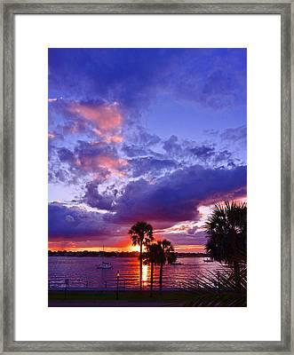 Neon Sky Framed Print