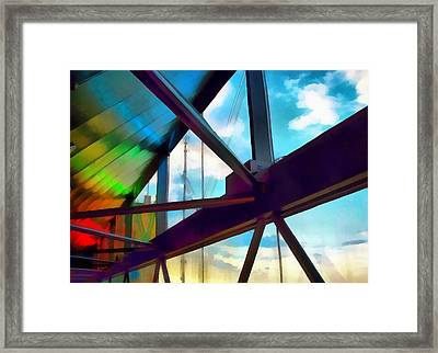 Neon Skywalker Framed Print