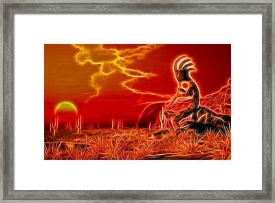 Neon Southwest Framed Print by Daniel Eskridge