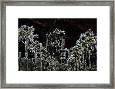 Neon Tower Framed Print by Eric Liller
