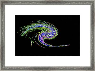 Neon Twirl Framed Print by Skip Willits