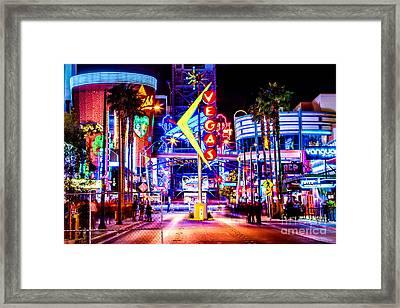 Neon Vegas Framed Print