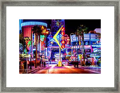 Neon Vegas Framed Print by Az Jackson