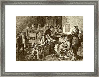 Neonatal Ward Framed Print by National Library Of Medicine
