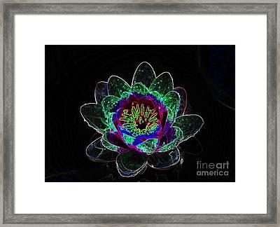 Neonflower Framed Print