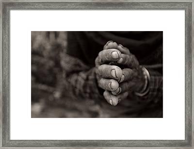 Nepalese Greeting Framed Print by James David Phenicie
