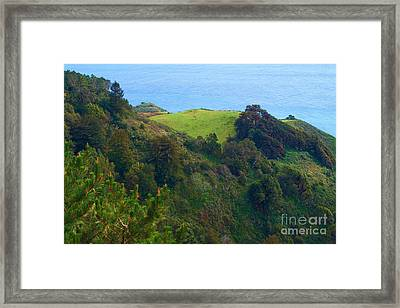 Nepenthe View At Big Sur In California Framed Print