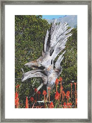 Nepenthes Bird Framed Print by Barbara Snyder