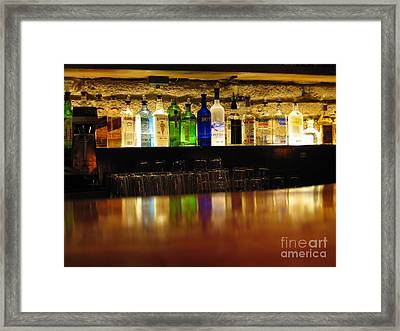 Nepenthe's Bottles Framed Print by James B Toy