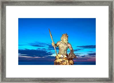 Neptune At Blue Hour Framed Print