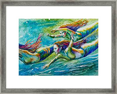 Neptunes Daughters Framed Print by Patricia Allingham Carlson