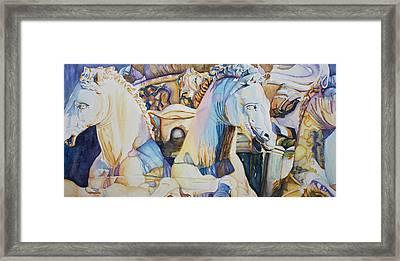 Neptune's Sea Horses - Florence Framed Print