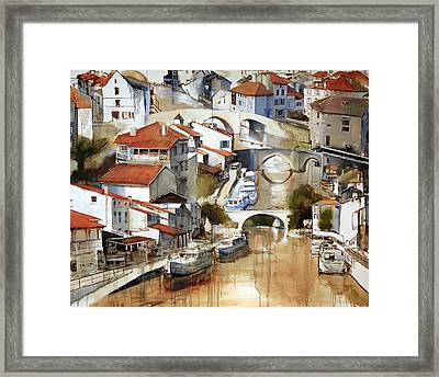 Nerac France Framed Print by Shirley  Peters