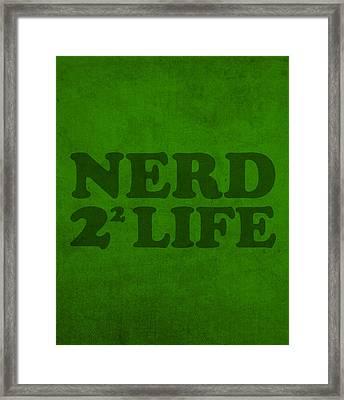 Nerd 4 Life Math Formula Humor Poster Framed Print