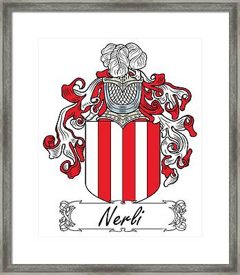 Nerli Coat Of Arms Italian Framed Print by Heraldry