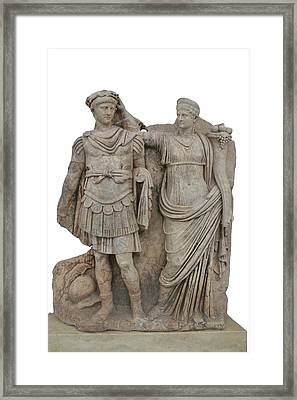 Nero And His Mother Agrippina Framed Print by Tracey Harrington-Simpson