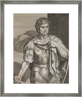 Nero Claudius Caesar Emperor Of Rome Framed Print by Titian