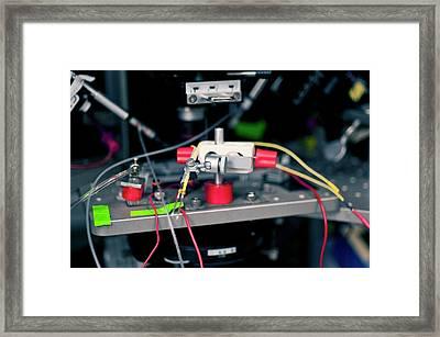 Nerve Stimulator Biosensor Framed Print by Food & Drug Administration