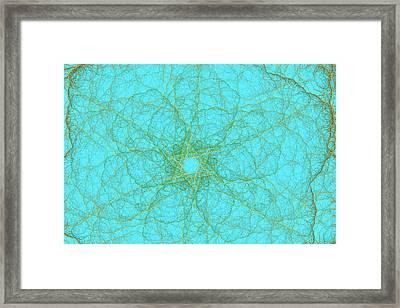 Nerves Green Blue Framed Print