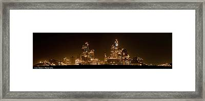 Nesher Cement Plant Framed Print by Isaac Silman