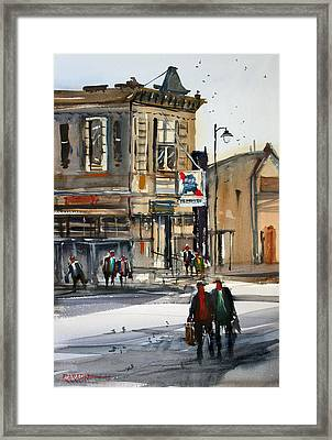 Neshkoro Tavern Framed Print by Ryan Radke