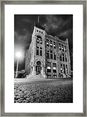 Ness County Bank Framed Print
