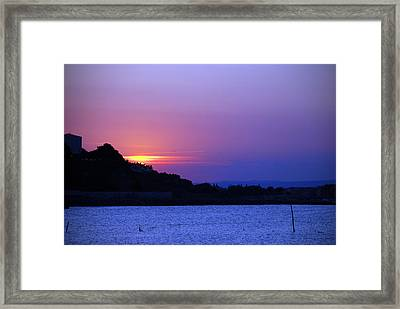 Nessebar Sunse  Framed Print by Art Mccaffrey