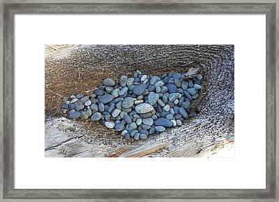 Framed Print featuring the photograph Pebble Nest by Cheryl Hoyle