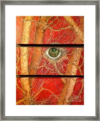 Framed Print featuring the painting Nesting by Delona Seserman