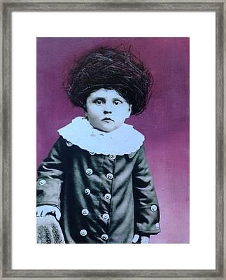 Nesting Series Purple Boy Framed Print