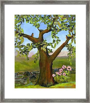 Nesting Tree Framed Print by Blenda Studio