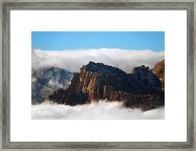 Nestled In The Clouds Framed Print by Alan Socolik
