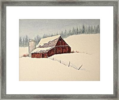 Nestled In White Framed Print by Carolyn Rosenberger